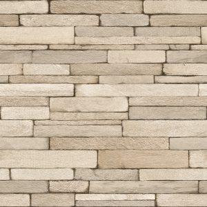 Ref 4152 - Papel de parede tijolos Finos empilhados.