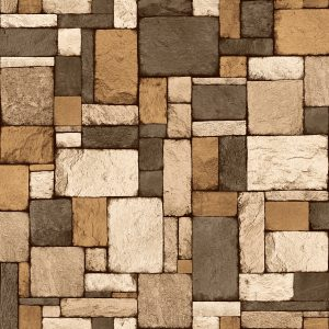 Ref: 4153 - Papel de parede pedras tridimensionais.